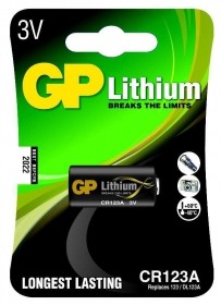5 baterias GP Batteries Lithium Photo 3V CR123A 2