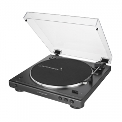 Toca-discos Audio-Technica Automático AT-LP60XBT-BK Bluetooth Preto Belt-Drive 1