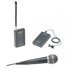 Kit Audio-Technica ATR288W Wireless VHF Lapela e Microfone 1