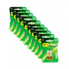 20 pilhas GP Batteries Super Alcalinas  AA 1.5V - 15A-C2X10 1